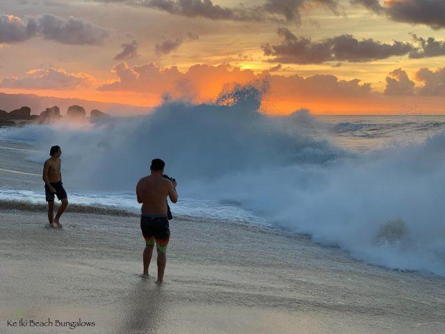 People come from all over the world to experience (and photograph) our shore breaking waves 🌊 . . #keikibeachbungalows #keikibeach #northshoreoahu #northshore #pupukea #oahu #hawaii #hawaiilife #luckywelivehawaii #luckywelivehi #instahawaii #hawaiiunchained #808 #808life #808state #shorebreak #bigwaves #bigwave #endlesssummer #islandlife #clarklittle #aloha #livealoha #alohastate #alohavibes #bigsurf