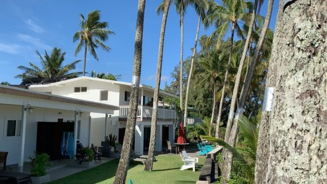 Monday morning. Wish you were here 🌴 . . #keikibeachbungalows #keikibeach #northshoreoahu #northshore #pupukea #oahu #hawaii #hawaiilife #luckywelivehawaii #luckywelivehi #instahawaii #hawaiiunchained #808 #808life #808state #palmtrees #hawaiiantropic #beachbungalow #endlesssummer #islandlife #islandliving #aloha #livealoha #alohastate #alohavibes #alohastateofmind